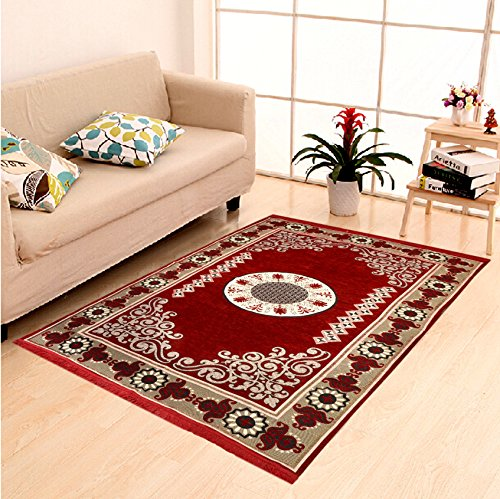 Home Elite Ethnic Velvet Touch Abstract Chenille Carpet - 55
