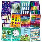 Juego de 12 pósteres educativos preescolares para aprendizaje de...