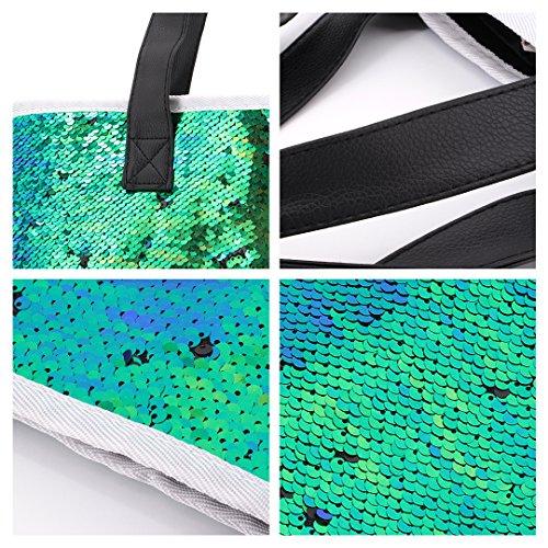 Novias Boutique Frauen Shiny Mermaid Pailletten Multifunktionale Schultertasche Totes (Royal blau) grün