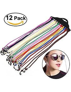Foopp - cómodo colgante para gafas de náilon para el cuello. 12 unidades.