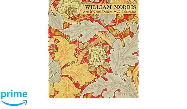 william morris arts crafts designs 2019 calendar