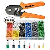 ATPWONZ Aderendhülsen Crimpzange Crimpwerkzeuge Set, 0.25-6.0mm Crimp Tool mit 800 Ratsche...