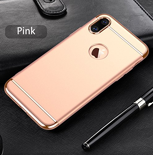 iPhone X Custodia, Ultra Sottile Anti-Graffio Case Rigido Elegante Grazie Alla Finitura Matta Della Parte Posteriore Protettiva Cover per iPhone X rosa