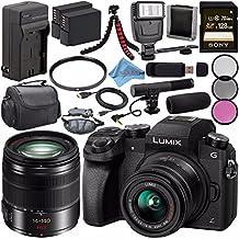 Panasonic Lumix DMC-G7 Mirrorless Camera With 14-42mm Lens (Black) DMC-G7KK + Lumix G Vario 14-140mm O.I.S. Lens + 58mm 3pc Filter Kit + DMW-BLC12 Lithium Ion Battery + Sony 128GB SDXC Card Bundle