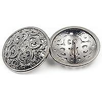 10Pcs Bottone dei Vestiti - Retro Bottone Cava Cucito Bottone Rotondo Metallo set per Uomo Donna Blazer, Cappotto…