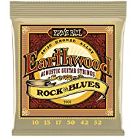 Ernie Ball 2008 Earthwood Rock and Blues Jeu de cordes pour Guitare acoustique