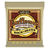 Ernie Ball Earthwood Rock y Blues w/Plain G 80/20 Cuerdas de guitarra ac�stica de bronce - 10-52 Gauge