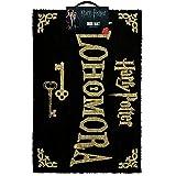 Harry Potter Alohamora Door Mat Paillasson Coco 40 x 60 cm, Fibre, Noir et doré, 60 x 40 x 1,5 cm