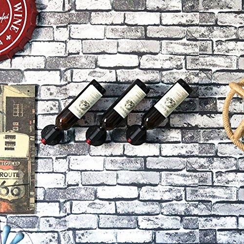 Weinregale MAZHONG Industrielles Kreatives Rohr-Wein-Gestell-Wand-Hängenden Ausstellungsständer-Freizeit-Stangen-Gestell-Wand-Wein-Gestell (Farbe : A)