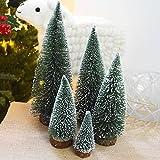 Naisidier - Árboles de Navidad Artificiales para decoración de Navidad, pequeñas Plantas de simulación de Escritorio, árboles de Navidad, jardín, Cocina, decoración de Navidad