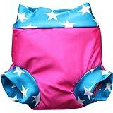 Zunblock Zwimmies - Bañador para niña, color rosa / turquesa, talla XL (18-24 meses)