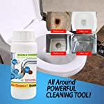 Volwco Powerful Sink and Drain Cleaner, Hair & Grease Clog Remover, Kitchen Toilet Pipe Dredging, Quick Foaming Toilet...