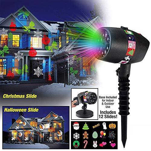 jektorlichter, Wasserdichte LED-Leuchten 5 Verschiedene Themen - Halloween, Weihnachten, Geburtstag, Valentinstag, Ostern, Karneval für Indoor Outdoor ()