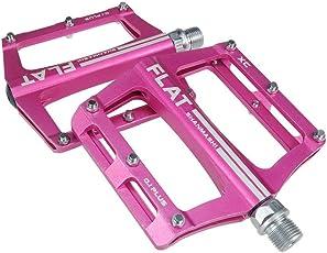 Evetin Flat Ultra-Light MTB Rennrad 3 Abgedichtetes Lager Fahrrad Pedale 0.1Plus (Rosa)