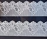 essbar Cake Lace Dekorative Strip X 2 38.5 cm x 7.5 cm silber