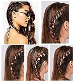 QTMY 30pcs Rings Shells Hands Leaves Stars Pendant Hair Clip Set Headband Hair Accessories (Silver)