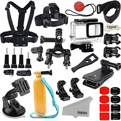 Kupton Zubehör für GoPro Hero 6/5 Action Camcorder Kamera Zubehör Kit Halterung Wasserdichte Gehäuse Brust Kopf Strap Bike Car Rucksack Clip Mount für Go Pro Hero6/5
