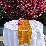 Zblp Tischläufer Pailletten-Vorhang-Hochzeits-Hintergrund-Foto-Stand-Party-Fotografie-Hintergrund-Tischläufer