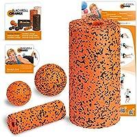 blackroll-orange / Dr. Paul Koch 8050712, Blackroll Orange (Das Original) Starter Set mit der Faszienrolle Pro, alles für den intensiven Einstieg ins Faszientraining, inkl. Übungsposter und Booklet