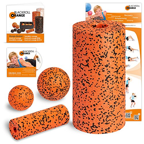 Blackroll Orange Selbstmassagerolle - Starter-Set PRO inkl. Übungs-DVD, Übungsposter & Booklet