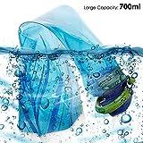 Faltbarer Wasser-Flaschen-Satz von 3, MAXIN Flexible zusammenklappbare Wiederverwendbare Wasser-Flaschen für das Wandern, Abenteuer, das Reisen, 700ML -