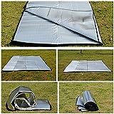 ECYC® Wasserdichte Aluminiumfolie EVA-Camping-Matte Picknick-Strand-Matratze im Freien, 2x2M