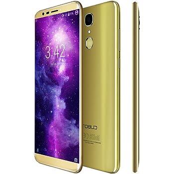 CUBOT X18 Smartphone 4G LTE Ohne Vertrag mit 5,7-Zoll-IPS-Bildschirm,Fingerabdruck-Sensor, Dual Rückkamera, Dual SIM Standby, Android 7.0, 3GB RAM + 32 GB ROM, Bluetooth 4.0 / GPS / WiFi (Gold)