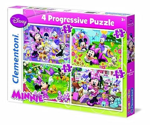 Clementoni - 21501.0 - Puzzle - 4 en 1 - Minnie - 12 + 20 + 24 + 35 Pièces