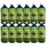 ForeverFit Aloe Vera Trinkgel, 12 x 1000ml #30243 | 100% Barbadensis Miller Blattgel UNVERDÜNNT | KEIN SAFT. KEIN Konzentrat | OHNE künstliche Vitamine | Acemannan bis 1200mg/Liter.