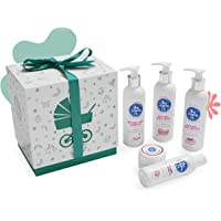 The Moms Co. Combo of Natural Baby Shampoo, Wash, Lotion, Massage Oil and Diaper Rash Cream Complete Care (White)