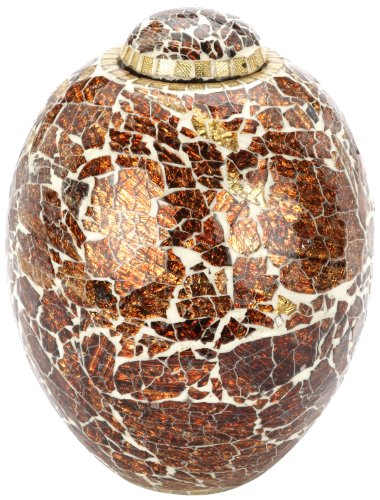 Urns UK Aluminium Metal Hayle Mosaic Urn, Bronze/ Copper