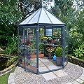 Palram Aluminium Gewächshaus Set Oasis anthrazit // Ø248 cm (LxBxH); Treibhaus & Tomatenhaus zur Aufzucht von Palram bei Du und dein Garten