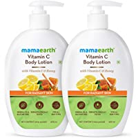 Mamaearth Vitamin C Body Lotion - Pack of 2 (400 ml X 2, All Skin Type)
