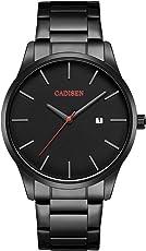 Herren Uhren, Herren-Armbanduhr Analog Quarz Braun & Schwarz C2021
