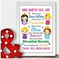 Personalised Teacher Gift Present Thank You Nursery Preschool Childminder Gifts - Thank You Gifts for Teachers, Teaching Assistants, TA, Nursery Teachers - ANY RECIPIENT from ANY NAME - A5, A4, A3 Prints and Frames - 18mm Wooden Blocks - FREE Personalisation