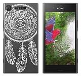 yayago Hülle für Sony Xperia XZ1 / XZ1 Dual Silikon Schutzhülle Hülle Case Backcover Tattoo Ornament Spring Design transparent Tasche