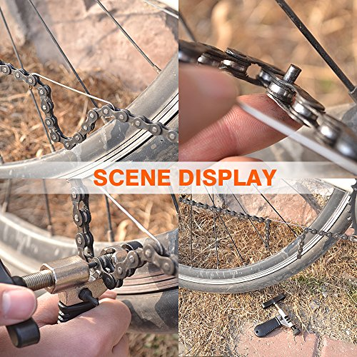 Fahrrad Ketten Werkzeug, Samione Werkzeug Kettennietdrücker , Fahrrad Ketten Entferner Werkzeug für Fahrrad / Radsport Mountain Ketten, Schwarz - 7