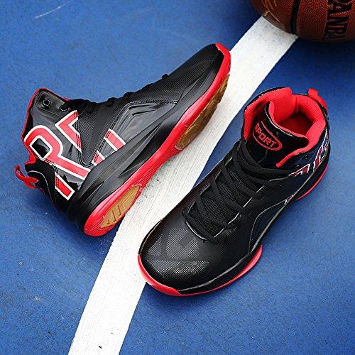 ... GOMNEAR Herren Basketball Schuhe Hi-Top Trainer Mixed Schwarz Rot Weiß  Orange Outdoor Sneaker G6Schwarz ... e8b9030716