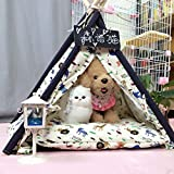 shanzhizui Small dog yurt kennel Dog tent Cat nest Dog House Washable Teddy dog