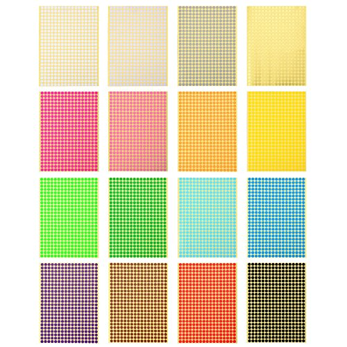 outus-etiquettes-de-codage-de-couleur-autocollants-a-pois-ronds-16-feuilles-6528-pieces-en-total