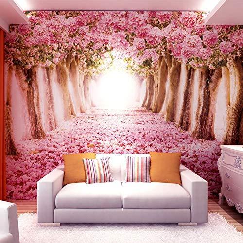 ischen Atmosphäre warm romantisch Hochzeitszimmer Tapete Schlafzimmer Hintergrund Tapeten Hochzeit Bekleidungsgeschäft Bett, 400 * 280cm = 313 ()