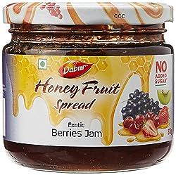 Dabur Honey Fruit Spreads, Exotic Berries, 370g