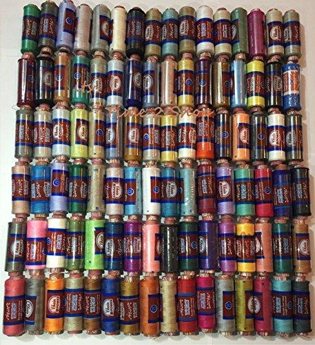 100x Spulen Polyester Stickerei Maschine Gewinde sortiert und pastel Farben für Brother Babylock Janome Singer Pfaff Husqvarna Bernina Maschinen UK (Pasteles Maschine)