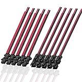 SIENOC 2PIN Stecker und Buchse Stecker Kabeldurchführungen für LED-Streifen 10 stk Stecker + 10 stk Buchse