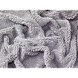 Supersoft Uni Sherpa texturé Tissu polaire Gris argenté–au mètre
