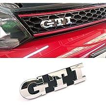 Ricoy rejilla delantera insignia emblema cromado para Golf 5 GTI MARK5 MK5 MKV rejilla de vinilo Logo