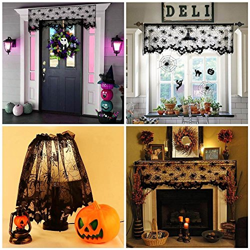 (BOROMOMO Halloween Style Lampe Cover schwarz Fledermäuse Spinnen Lampenschirm Halloween Party Dekorationen)