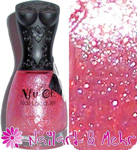 nfuoh® Shiny-Vernis à ongles 17 ml : # 48 – Opale avec viiielen – irisierenden Opale/Flakes fort un vernis Folie.