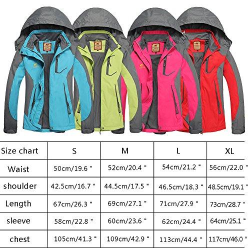 Bornbayb femmes capuche coupe-vent et imperméable veste extérieure femmes respirant alpinisme veste idéal pour le vélo, la course, le jogging, équitation vert