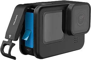 Telesin Batteriefachdeckel Abnehmbarer Ladeanschluss Adapter Typ C Batterieabdeckung Für Go Pro Hero 9 Kamera Schwarz Sport Freizeit